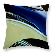 Indian Motorcycle Fender Emblem Throw Pillow
