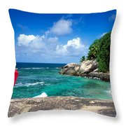 Indian Ocean Moyenne Island Seychelles Throw Pillow