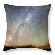 Indian Peaks Milky Way Throw Pillow