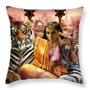 Indian Princess Throw Pillow