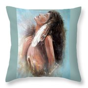 Indian Princess Throw Pillow