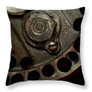Indian Racer Crankshaft Fly Wheel Throw Pillow
