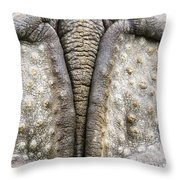 Indian Rhinoceros Tail Throw Pillow
