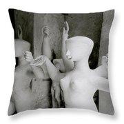 Indian Sculpture Throw Pillow