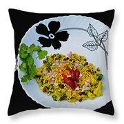 Indian Snacks - Poha Throw Pillow