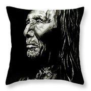 Indian Warrior Throw Pillow