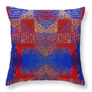 Indian Weave Abstract Throw Pillow