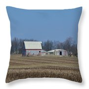 Indiana Barns Throw Pillow