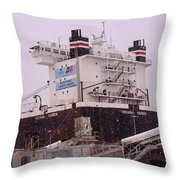 Indiana Harbor 1  Throw Pillow