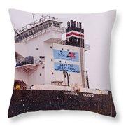 Indiana Harbor 2  Throw Pillow
