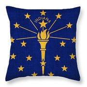 Indiana State Flag Throw Pillow