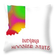 Indiana State Map Collection 2 Throw Pillow