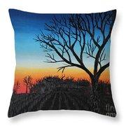 Indiana Sunset Throw Pillow