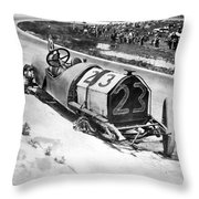 Indianapolis 500, 1912 Throw Pillow