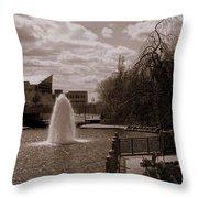 Indianapolis Canal Throw Pillow