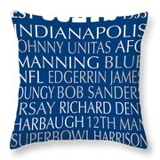 Indianapolis Colts Throw Pillow by Jaime Friedman