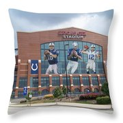 Indianapolis Colts Lucas Oil Stadium Throw Pillow