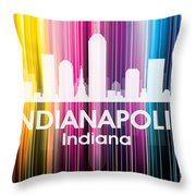 Indianapolis In 2 Throw Pillow