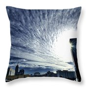 Indianapolis Sky Throw Pillow