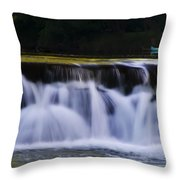 Indianhead Dam - Montgomery County Pa. Throw Pillow