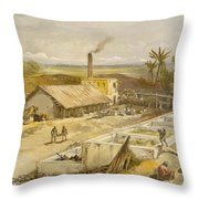 Indigo Factory - Bengal, From India Throw Pillow