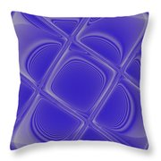 Indigo Petals Morphed Throw Pillow