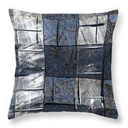 Indigo Squares 3 Of 5 Throw Pillow