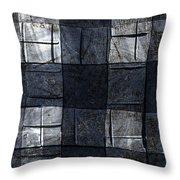 Indigo Squares 4 Of 5 Throw Pillow