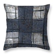 Indigo Squares 5 Of 5 Throw Pillow