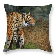 Indo-chinese Tiger Throw Pillow