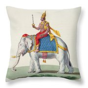 Indra Or Devendra, From Linde Throw Pillow