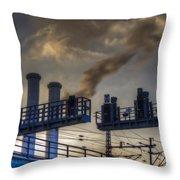 Industrail Sunset Throw Pillow