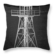 Industrial Alcatraz Throw Pillow