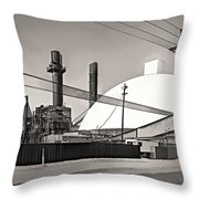 Industrial Art 2 Sepia Throw Pillow