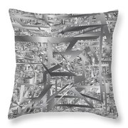 Industrial Chaos Throw Pillow