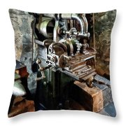 Industrial Gear Cutting Machine Throw Pillow