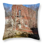 Industrial Ghost Throw Pillow