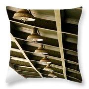 Industrial Lights Throw Pillow