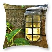 Industrial Outdoor Light Throw Pillow