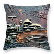 Industrial Port-part 1 By Rafi Talby Throw Pillow