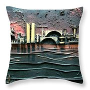 Industrial Port-part 2 By Rafi Talby Throw Pillow