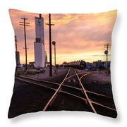 Industrial Rail Yard Throw Pillow