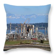 Industrial Refinery Throw Pillow
