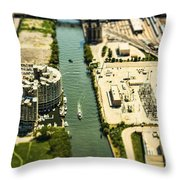 Industrial Riverside Throw Pillow