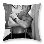 Industrial Strength Bw Palm Springs Throw Pillow