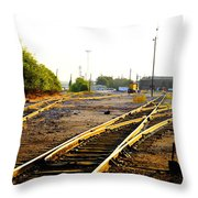 Industrial Tracks II Throw Pillow