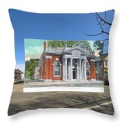 Industrial Trust Company In Warren Rhode Island Throw Pillow