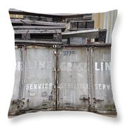 Industrial Wasteland Throw Pillow