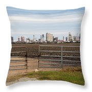 Industry At Sunrise Throw Pillow