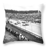 Indy 500 Auto Race Throw Pillow